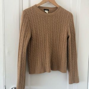J. Crew Wool cable knit sweater size Med